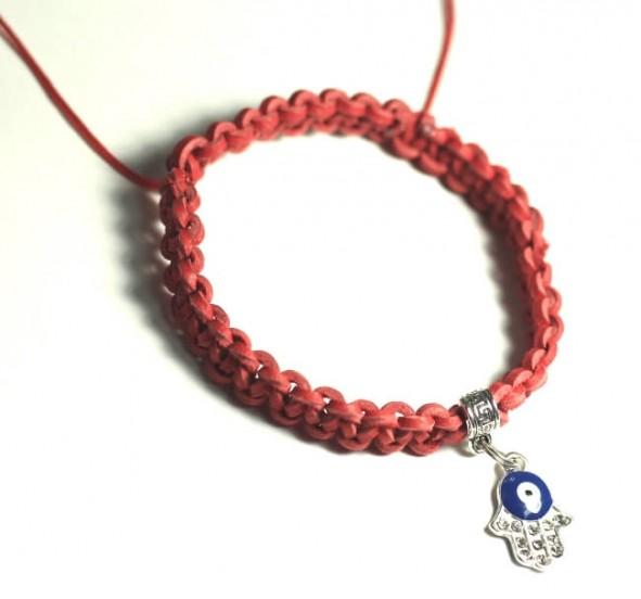 красная нить купить кожаный браслет красный на защиту значение