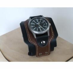 18b107d9 ૐ Часы хипстерские на кожаном ремешке купить. Часы-браслет широкие ...