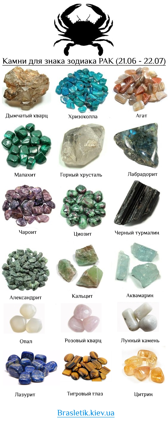 Рак гороскоп какой камень